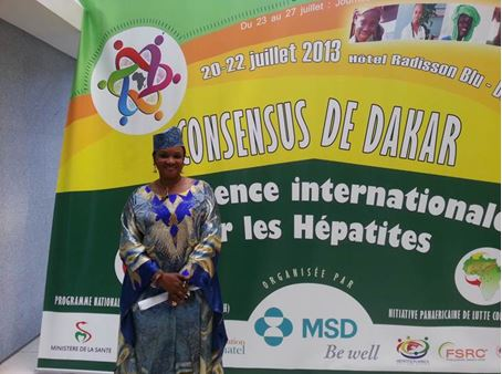 "Prof. Aminata Sall Diallo, executive director of ""Le Programme National de Lutte contre les Hépatites"" (PNLH) and Coordinator of IPLH"